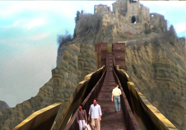 2007 , Un ponte per Civita di Bagnoregio (VT)