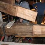 """restauro della capriata """"Protesi"""""""